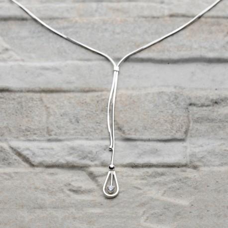 Collana in argento 925 con zircona