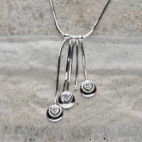 Collana in argento 925 con Zirconi