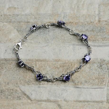 Bracciale donna in argento 925 con zirconi