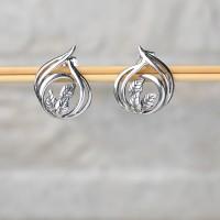 Orecchini donna in argento 925 con le foglie