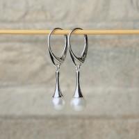 Orecchini in argento 925 con perla