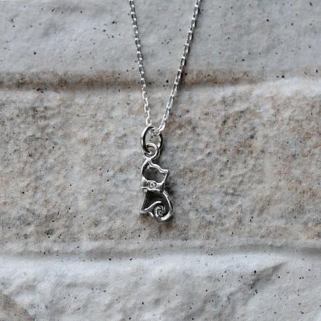 Collana Gatto in argento 925 con Swarovski