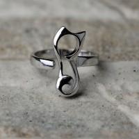 Anello gatto in argento 925