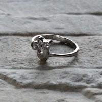 Anello gatto in argento 925 con zirconi
