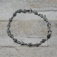 Bracciale donna in argento 925 con fiori