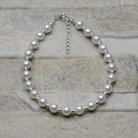 Bracciale di perle e argento 925