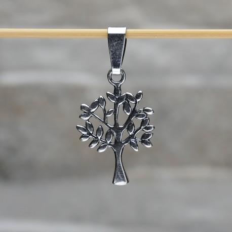 """Pendente """"Albero della vita"""" in argento 925 con ambra da Mar Baltico"""