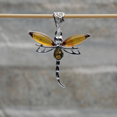 Pendente farfalla argento 925 con Ambra da Mar Balticoi