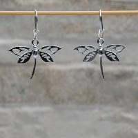 Orecchini pendenti farfalle argento 925