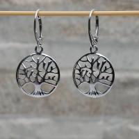 Orecchini pendenti argento 925 L'albero dela vita