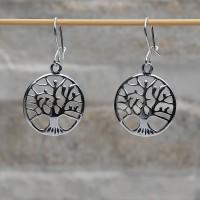 Orecchini pendenti argento 925 L'albero della vita con chiusura gancetto
