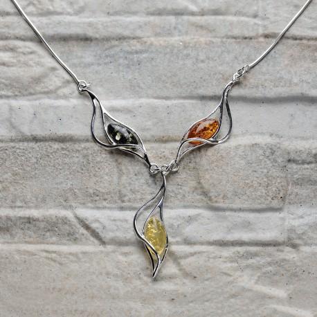 Collana in argento 925 con Ambra da Mar Baltico