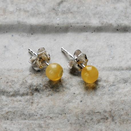 orecchini in argento 925 con ambra dal mar baltico