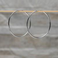 Orecchini a cerchio in argento 925