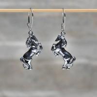 Orecchini in argento 925 con pendente Cavallo