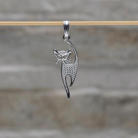 """Pendente """"Gatto"""" in argento 925"""