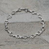 Bracciale in argento 925 con i cuori