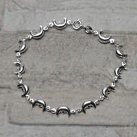 Bracciale in argento 925 con lune