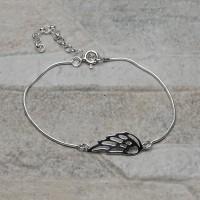 Bracciale con ala in argento 925
