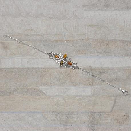 Bracciale in Argento 925 con Ambra da Mar Baltico