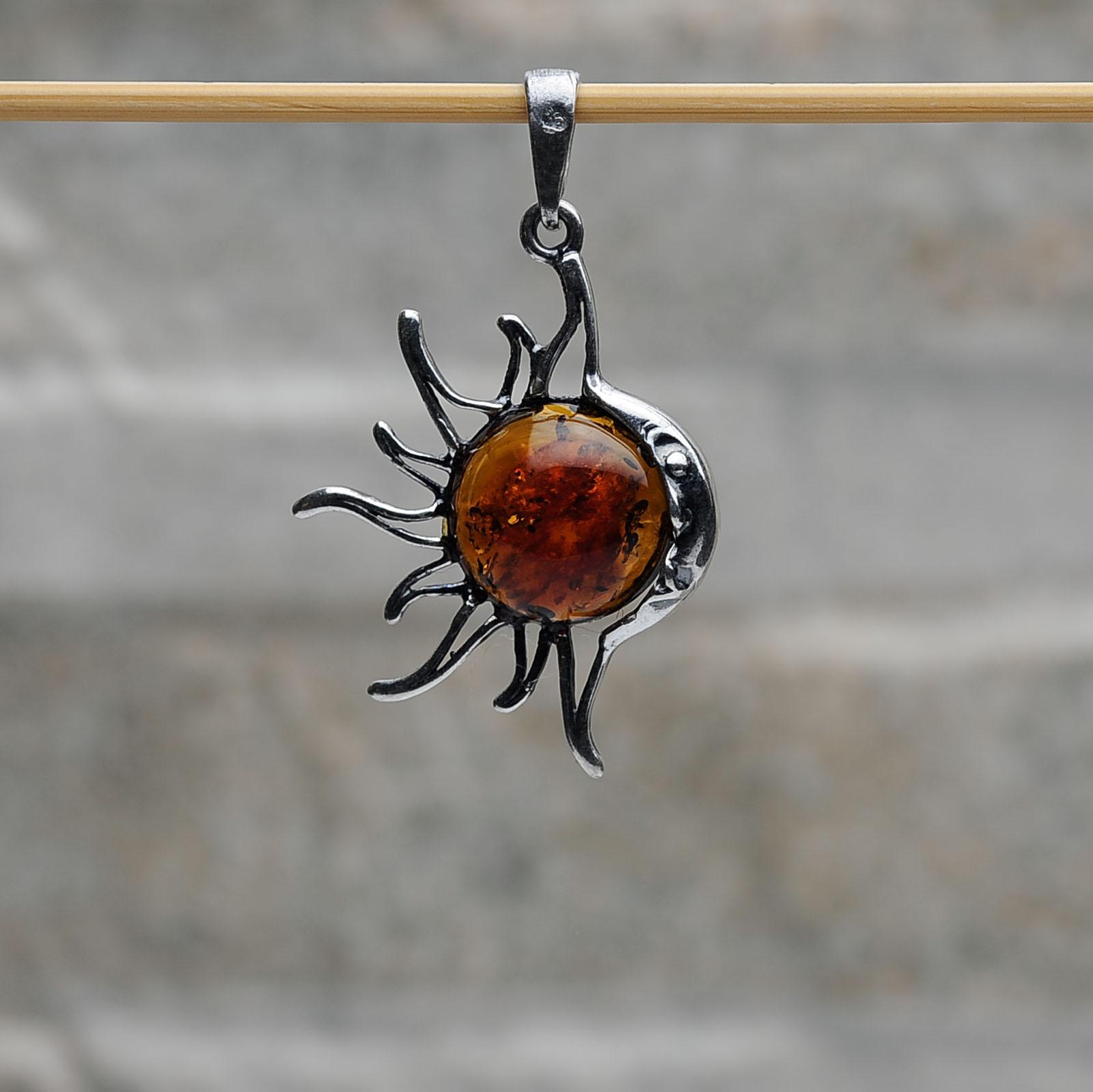 Pendente Sole-Luna argento 925 Tigri-Domestiche-Shop