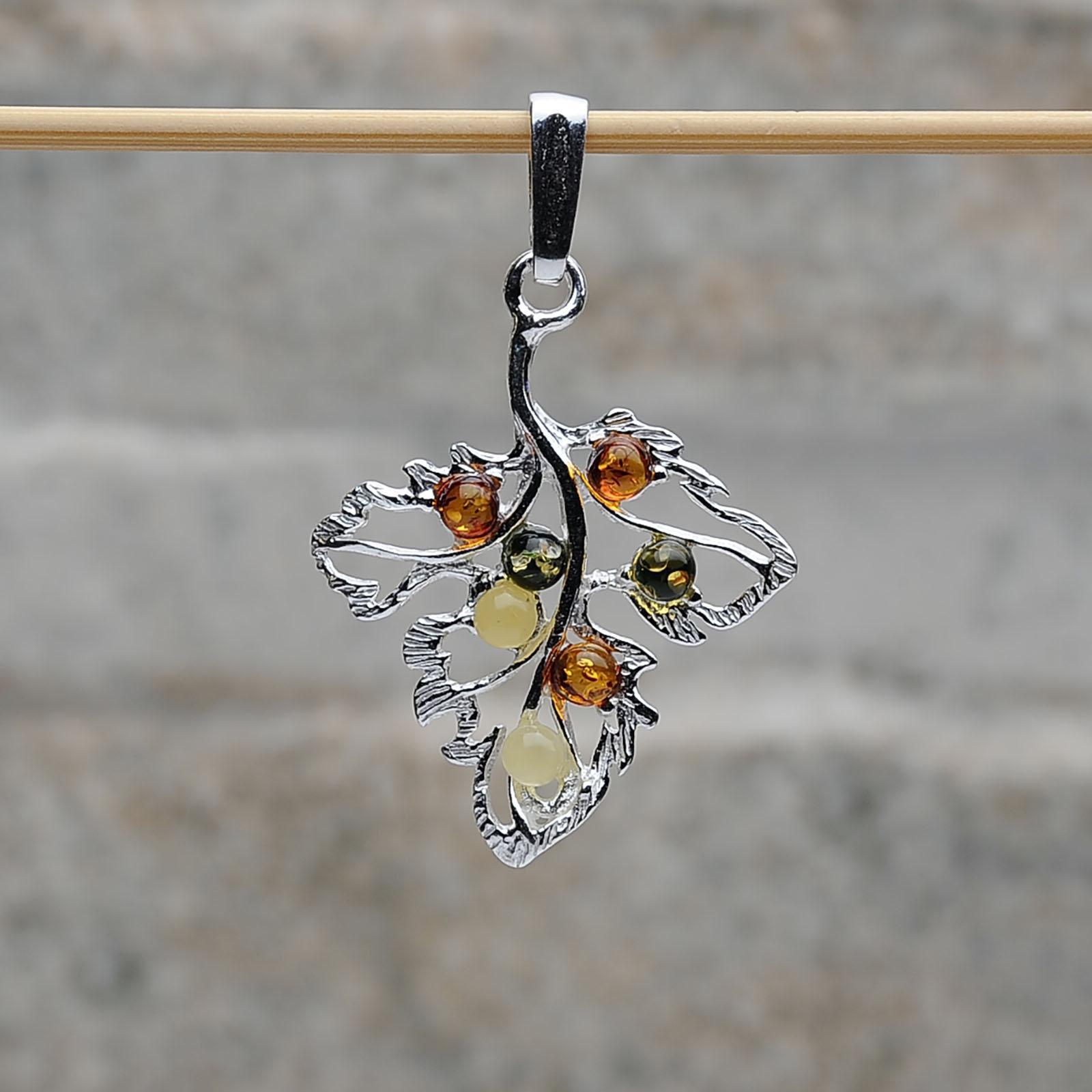 Pendente Foglia argento 925 Tigri-Domestiche-Shop